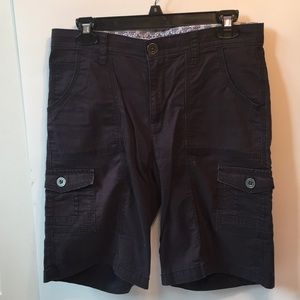 Navy women's cargo shorts